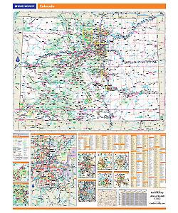Rand McNally Colorado State Wall Map on illinois county map, illinois dot construction map, illinois interstate highway map, illinois airports map, illinois tollway map 294, illinois tolls rates map, illinois road atlas, illinois us 66 maps,