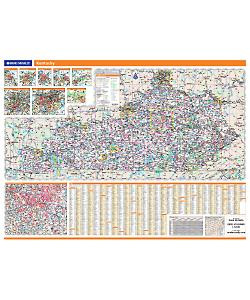 Rand McNally Kentucky State Wall Map on st. louis kentucky map, sharp kentucky map, ky hwy map, rand mcnally home, lexington kentucky map, mapquest kentucky map,