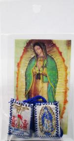 161.0089 Escapulario de la Virgen de Guadalupe y Señor de Chalma