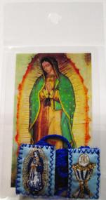 161.0261 Escapulario de Vrigen de Guadalupe y Cáliz
