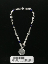 16138 Pulsera de floretistas azul Medalla de San Benito
