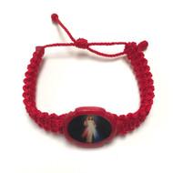 PULSERA TEJIDA HILO ROJO DE DIVINA MISERICORDIA/DIVINE MERCY WOVEN RED THREAD BRACELET