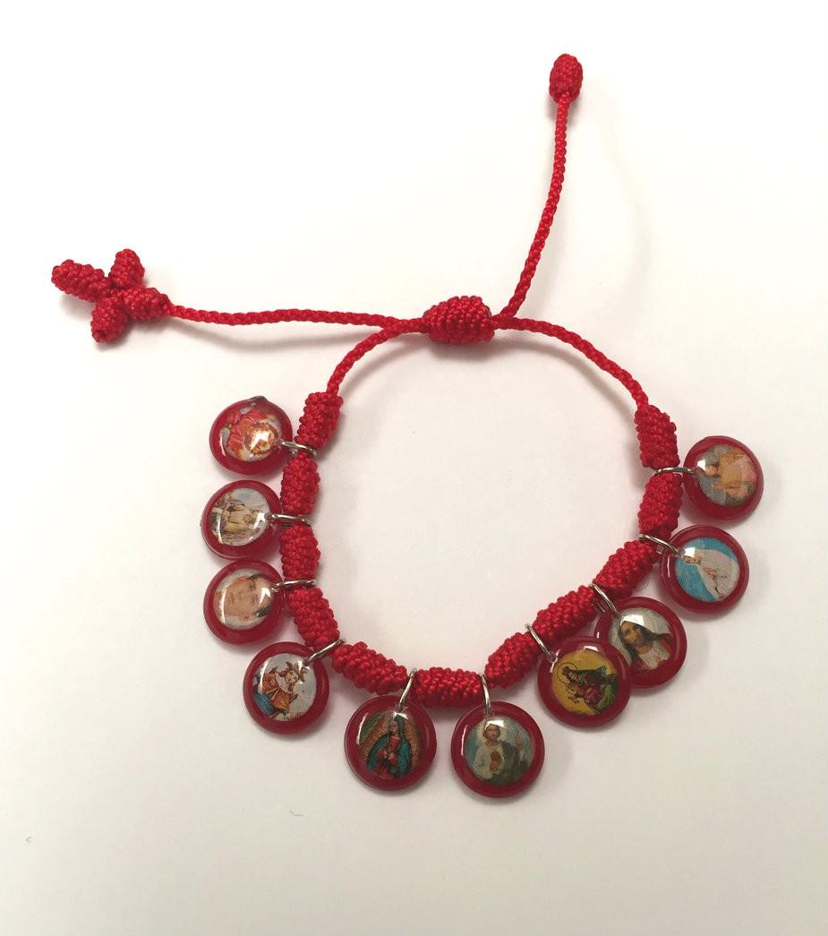 moda atractiva códigos de cupón fina artesanía PULSERA ROJA VARIOS SANTOS/SAINTS RED BRACELET