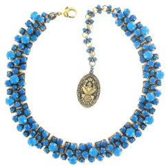 Blue Caribbean Opal Necklace