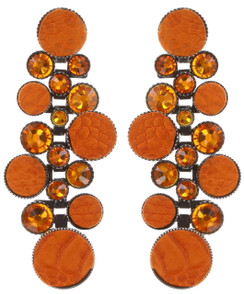 Planet River Orange Earrings