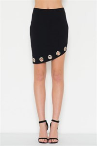 Metal Detail Mini Skirt
