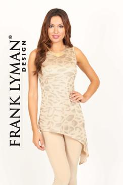 Gold Knit Animal Print Tunic