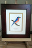 You can purchase the Eastern bluebird framed (frame styles may vary slightly from the one pictured).