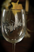 Because each US-made wineglass is painted by hand, there will be slight differences from the glass pictured here.