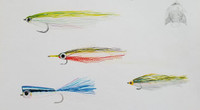 Original Painting - Saltwater Angler's Pint Fly Patterns