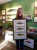 Framed Trout Triptych
