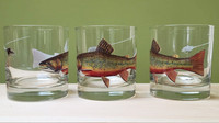 Tie One On Brook Trout Rocks/Old Fashioned Glass