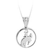 "PD1379C Sterling Silver pendant with 18"" box chain."