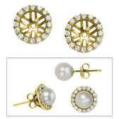 Earring jackets, perfect for 5.5-6mm pearl or diamond earrings