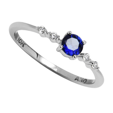 10kt Round Center stone and Diamond ring. Select your center stone.