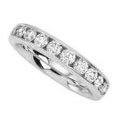 Classic 10 diamonds .50cttw set in white gold