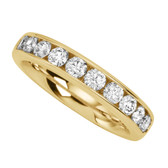 Classic 10 diamond anniversary ring .75cttw set in yellow gold