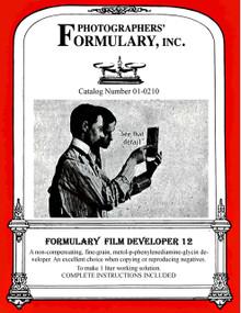 Film Developer 12 Front Label