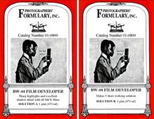 BW-44 Liquid Film Developer Front Labels