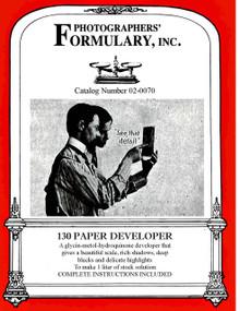 130 Paper Developer Front Label