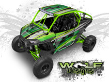 Green Polaris XP1K UTV Wrap Kit
