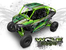 Green Polaris XP1K UTV Wrap Kit