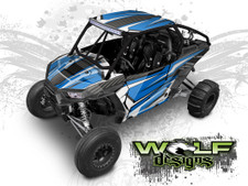 Blue and White Polaris XP1K UTV Wrap Kit