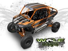 Orange Polaris XP1K UTV Wrap Kit