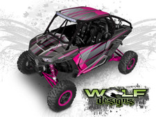 Pink Polaris XP1K UTV Wrap Kit