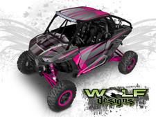 Pink Polaris XP1K UTV Wrap Kit