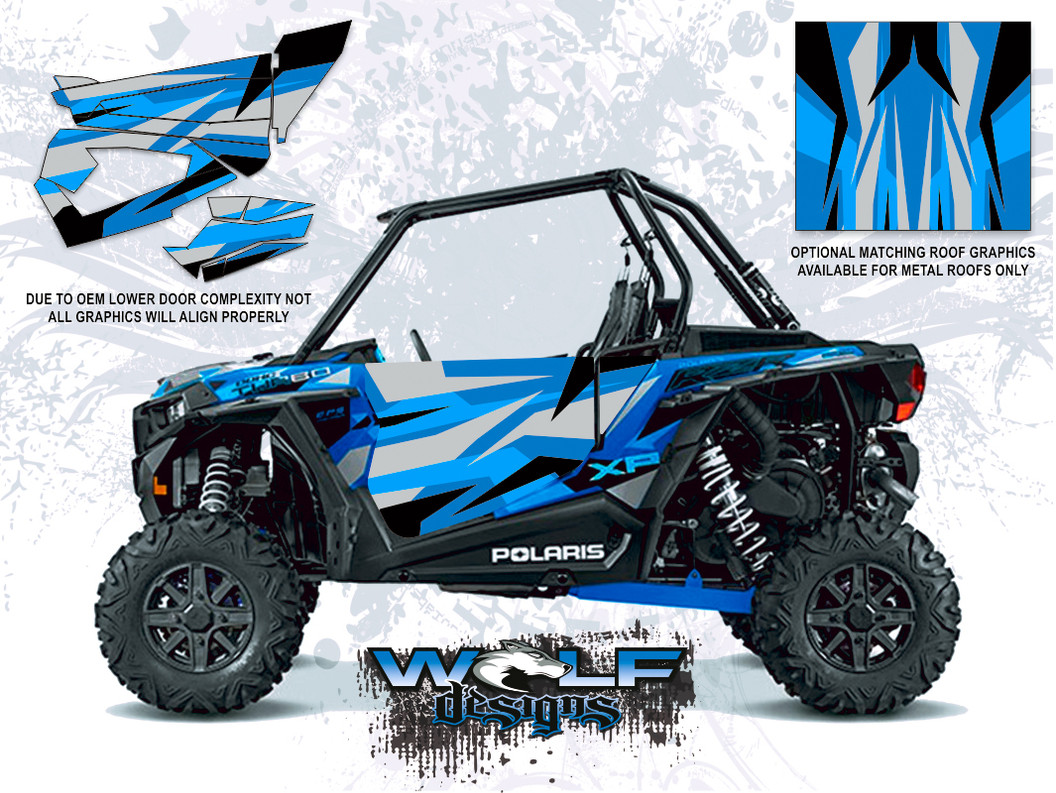 Polaris RZR XP Turbo - Velocity Blue Door Kit