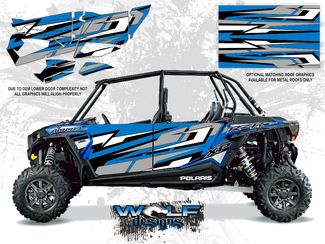 Polaris Rzr Xp4 1000 Electric Blue Utv Door Kit