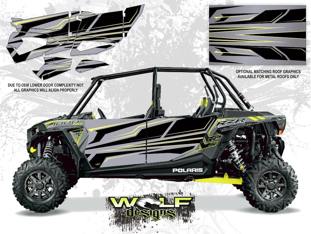 Polaris Rzr Xp4 1000 Titanium Matte Metalli Utv Door Kit