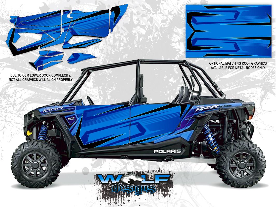 Polaris Rzr Xp4 1000 Voodoo Blue Utv Door Kit