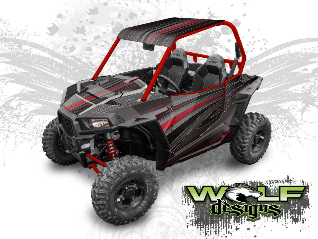 WD-RZSA-009 - Polaris RZR S UTV Wrap Kit (EXTREME PLUS KIT SHOWN)