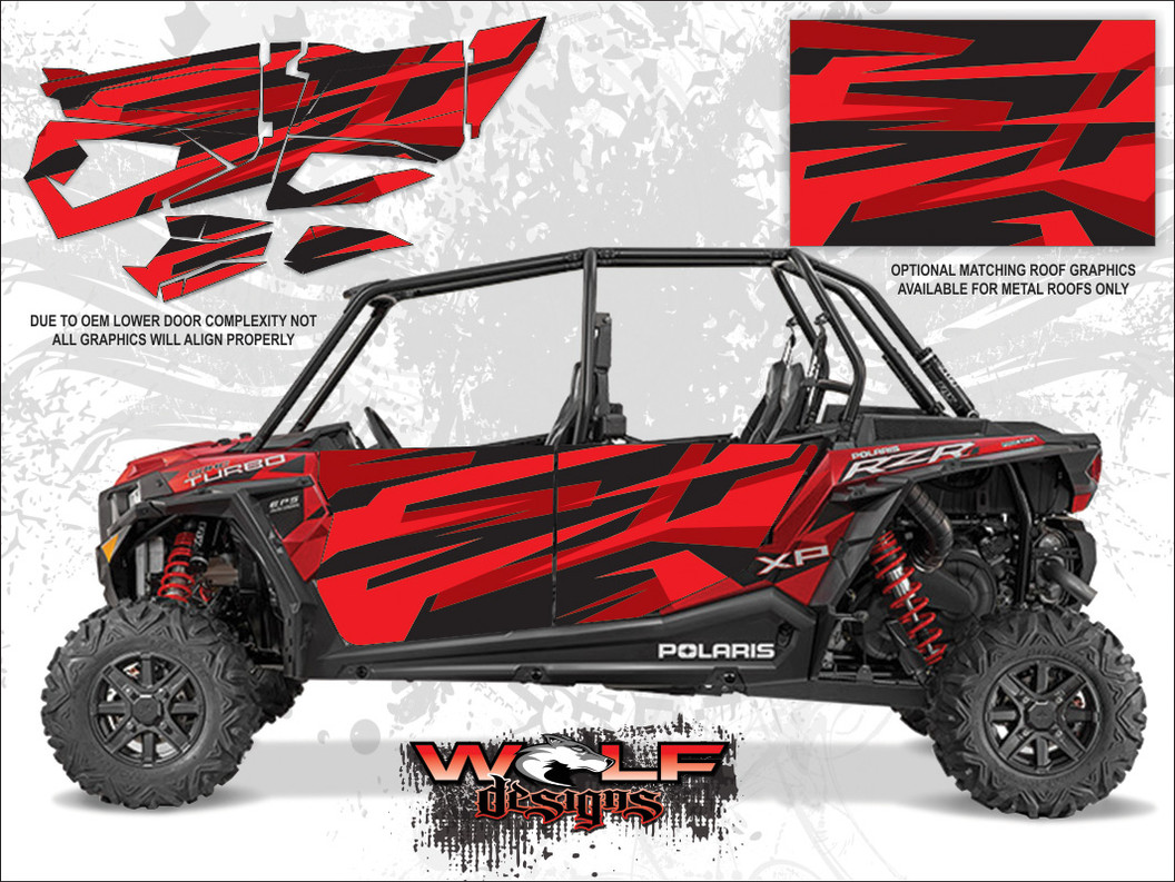 POLARIS RZR XP4 TURBO - Matte Sunset Red