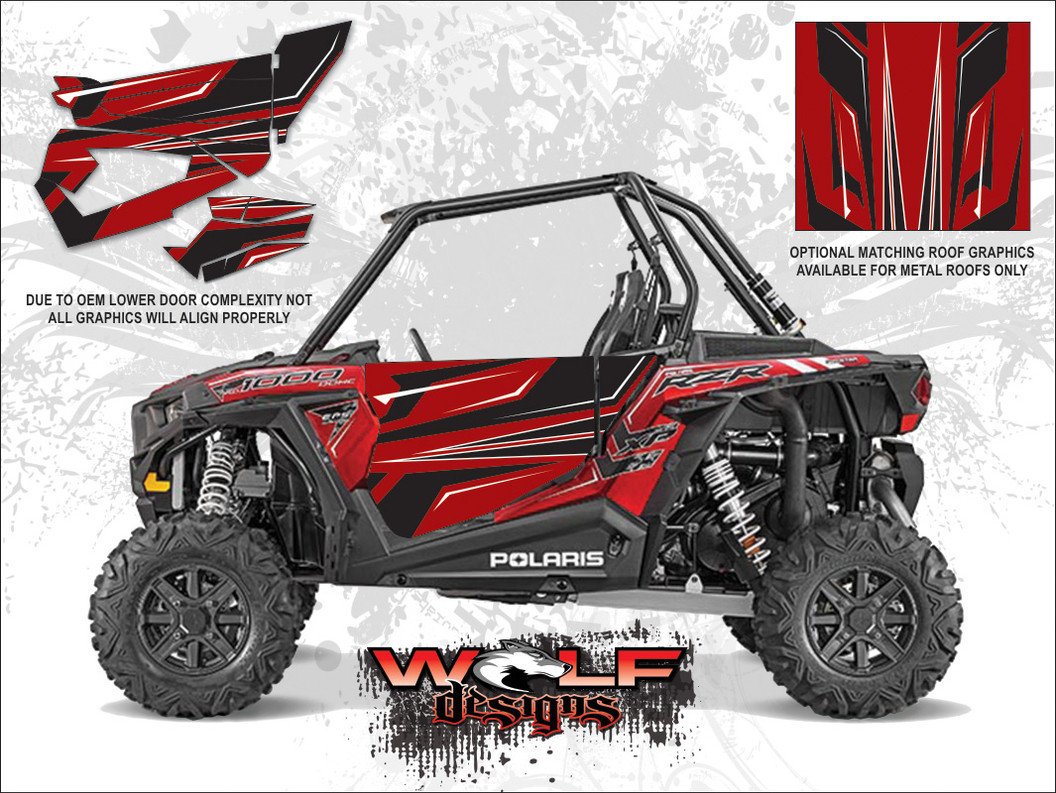 Polaris Rzr Xp 1000 Sunset Red Utv Door Kit