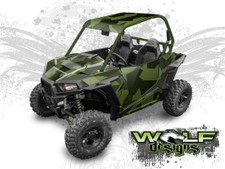 Jagged Urban Camo Polaris RZR S UTV graphics wrap kit