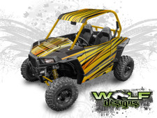 WD-RZSA-010 - Polaris RZR S UTV Wrap Kit (EXTREME PLUS KIT SHOWN)