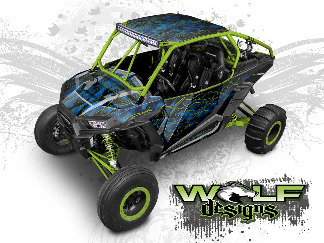 The best flame wrap kit for Polaris RZR XP Turbo and XP 1000