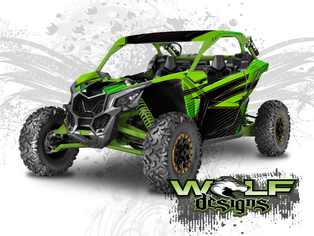 The best Can-am Maverick X3 wrap kit
