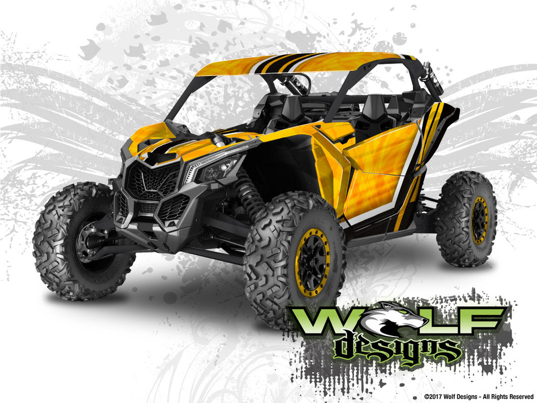The best CanAm Maverick graphics wrap kit