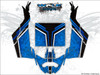Blue CanAm Maverick X3 wrap kit