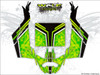 Green CanAm Maverick X3 wrap kit