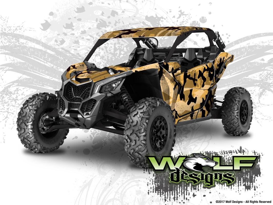 WD-MX3-006 - Can-am Maverick X3 UTV Wrap Kit (EXTREME PLUS KIT SHOWN)