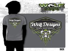2018 Wolf Designs Skull - Mens T-shirt (WD-AP010)