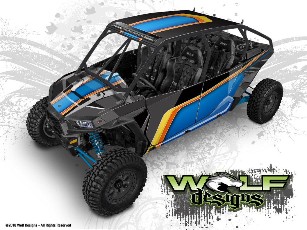 The best Polaris RZR XP4 1000 and XP4 Turbo UTV wrap kits