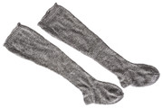 18th century hand knit stockings - 2 ply