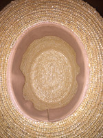 Interior detail of straw top hat