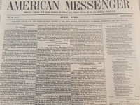 American Messenger Newspaper, July 1862 edition